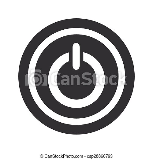 Round Black Power Sign Image Of Power Symbol In Circle On Black