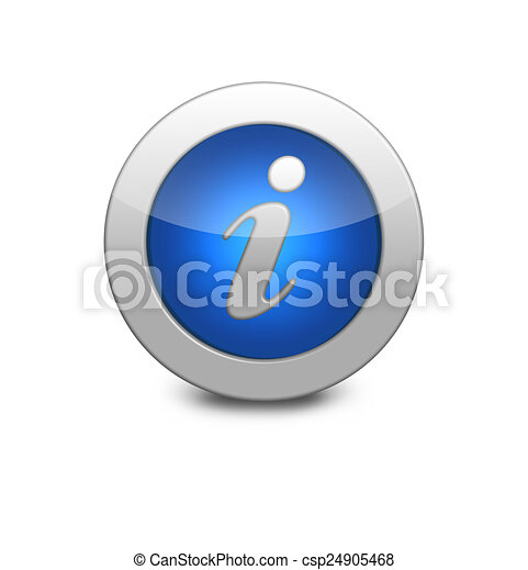 Round blue button. Information sign icon - csp24905468