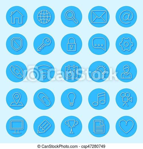 Round Blue Web Icons - csp47280749
