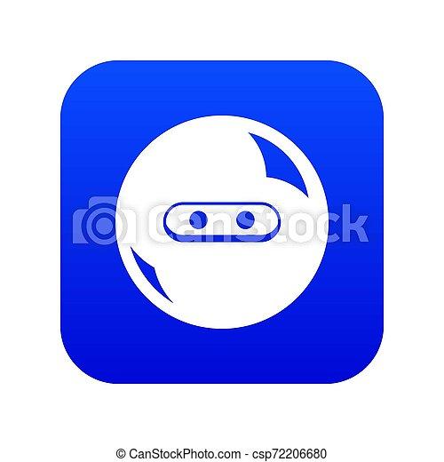 Round button icon blue - csp72206680