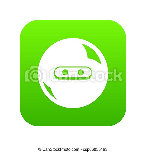 Round button icon green - csp66855193
