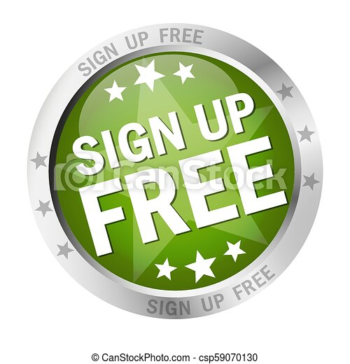 Round button Sign up free - csp59070130
