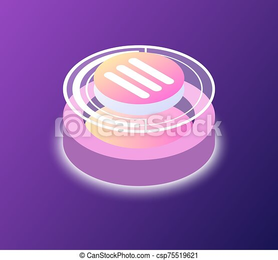 Round Button, Startup or Business Platform Vector - csp75519621