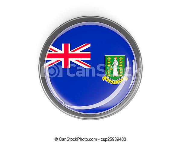 Round button with flag of british virgin islands - csp25939483