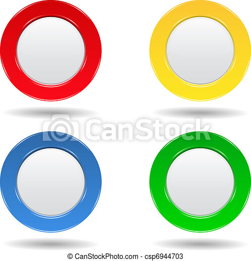 set of four colorful round buttons vectors search clip art rh canstockphoto com buttons clipart black and white clipart bullets buttons