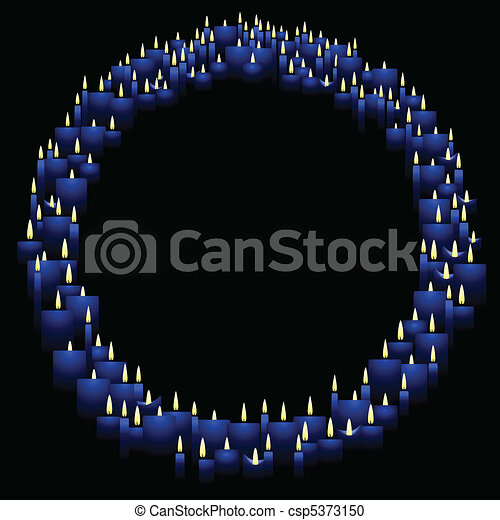 Round candle frame - csp5373150