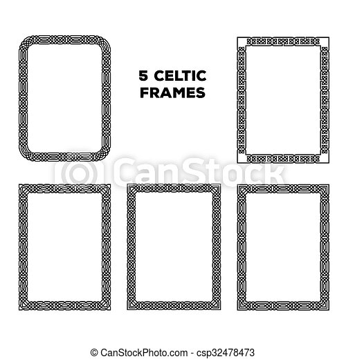 Round Celtic Frames - csp32478473