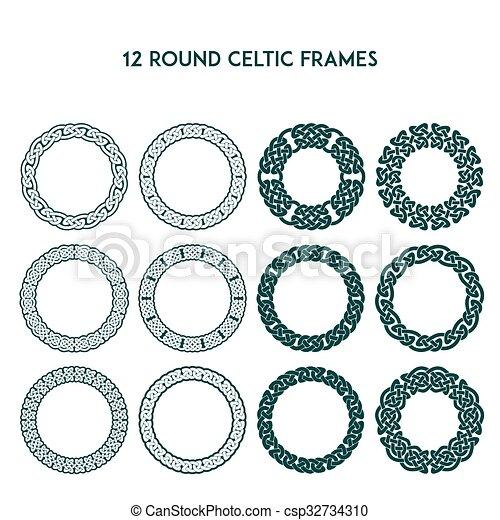 Round Celtic Frames - csp32734310