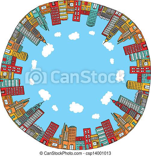 Round city skyline - csp14001013