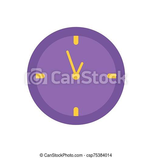 round clock time office flat icon design - csp75384014