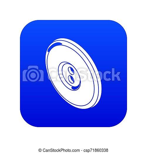 Round clothes button icon blue - csp71860338