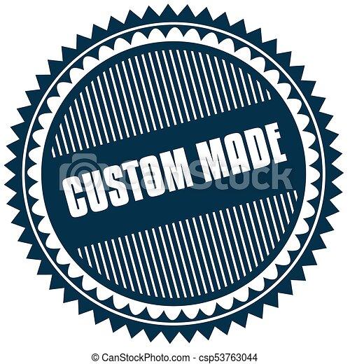 Round custom made blue sticker csp53763044