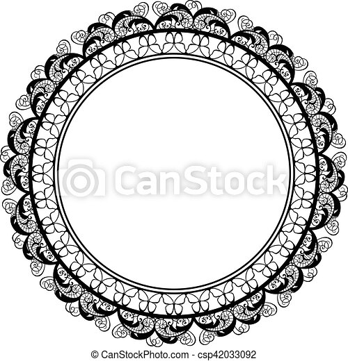 Round decorative frame border design. Scalable vectorial image ...