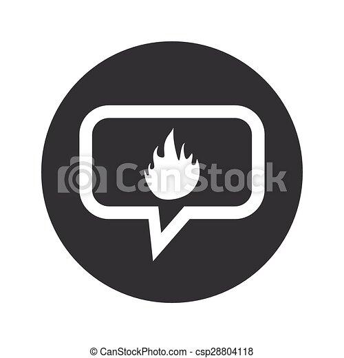 Round dialog fire icon - csp28804118