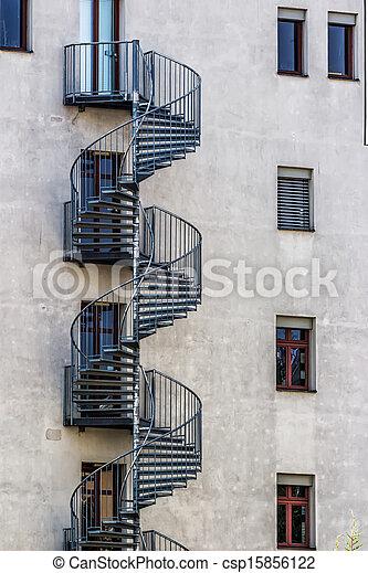 Round Fire Escape Stairs   Csp15856122