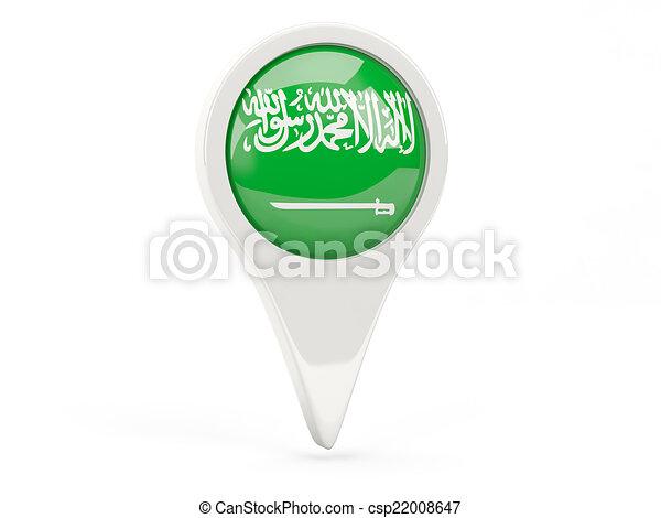 Round flag icon of saudi arabia - csp22008647