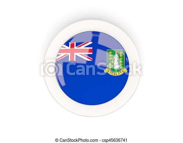 Round flag of virgin islands british with carbon frame - csp45636741