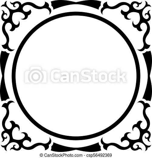 round frame with vintage corner on white background clip art vector rh canstockphoto ie vintage frame clipart free download vintage frame clipart free
