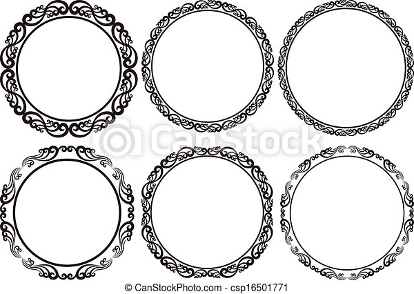 Set of round frames design elements round frames csp16501771 thecheapjerseys Images
