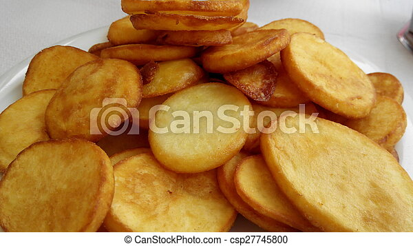 Round Fried Potatoes Fried Round Slice The Potatoes Canstock