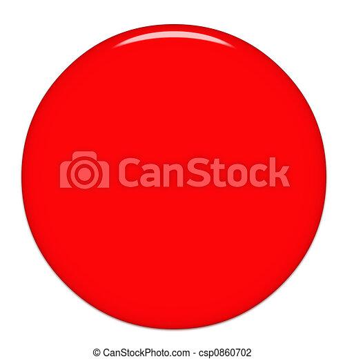 Round Glass Button - csp0860702