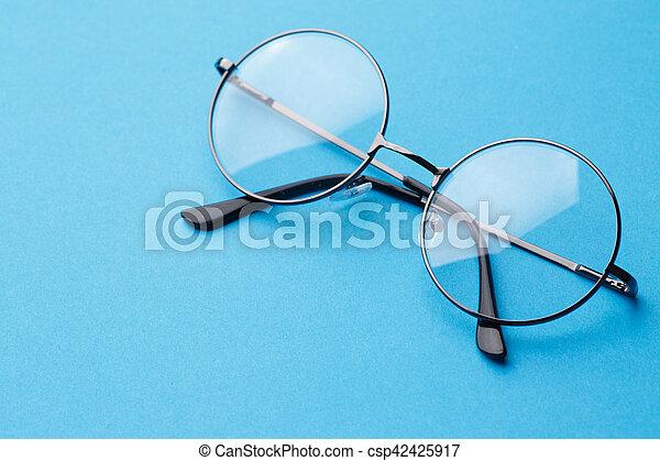 Round glasses with transparent lenses - csp42425917