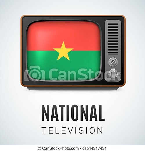 Round glossy icon of Burkina Faso - csp44317431