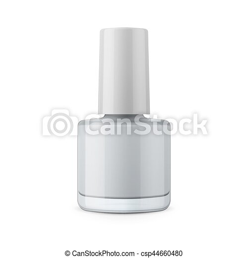 round glossy nail polish bottle with cap realistic packaging mockup
