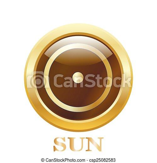 Round glossy round button - csp25082583
