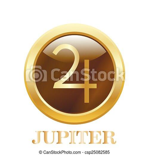 Round glossy round button. Jupiter - csp25082585
