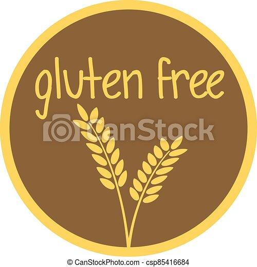 round gluten free label or sticker - csp85416684