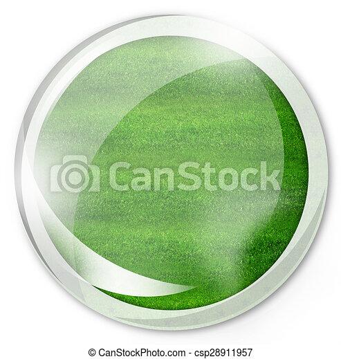 round green button - csp28911957