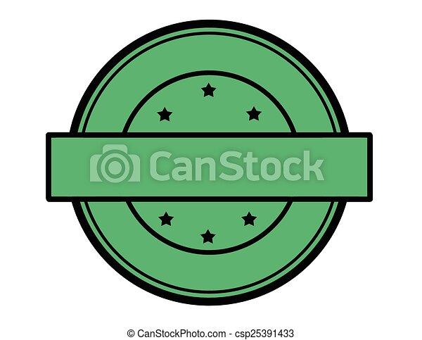Round green stamp - csp25391433