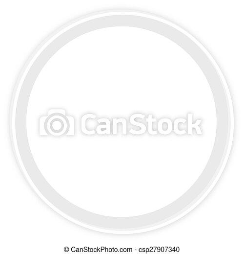 round icon button - csp27907340
