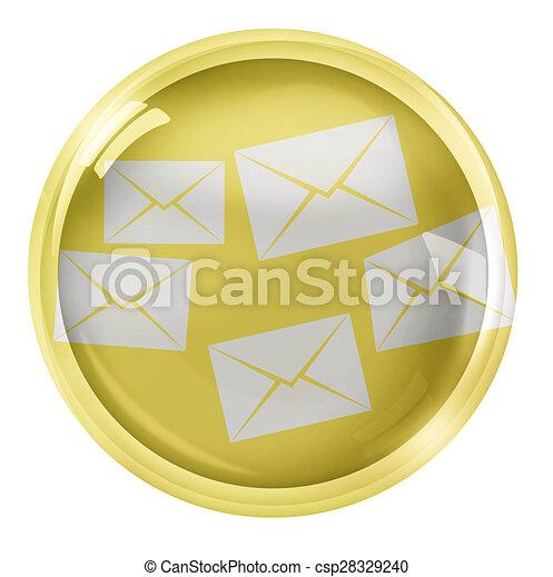 Round Icon Button Symbol - csp28329240