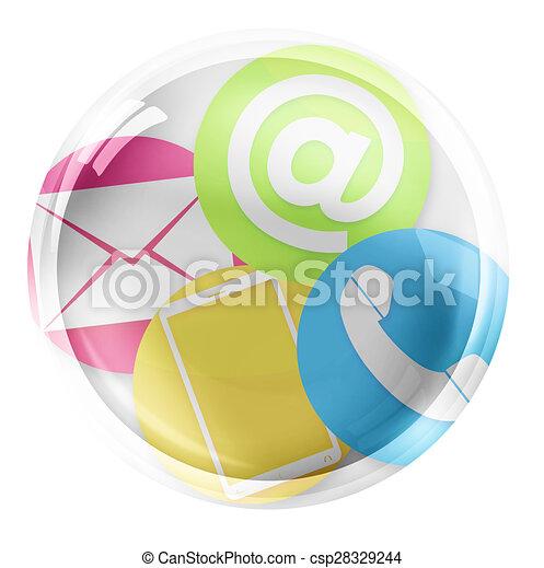 Round Icon Button Symbol - csp28329244