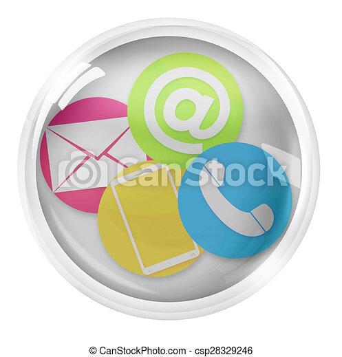 Round Icon Button Symbol - csp28329246