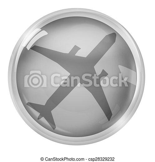 Round Icon Button Symbol - csp28329232