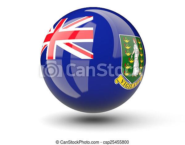 Round icon of flag of british virgin islands - csp25455800