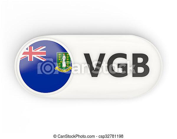 Round icon with flag of virgin islands british - csp32781198