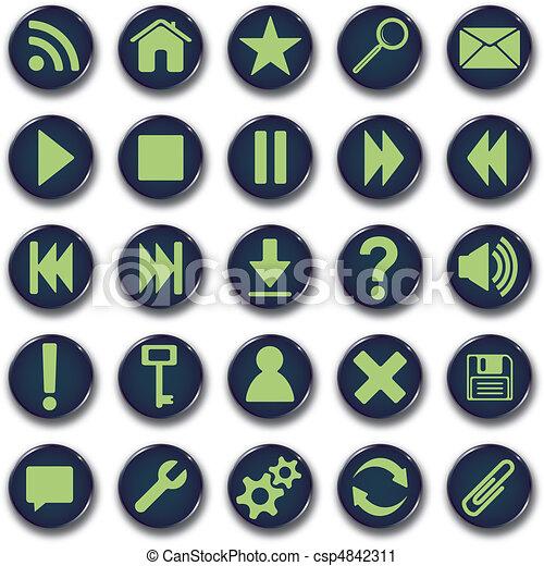 Round icons button set - csp4842311