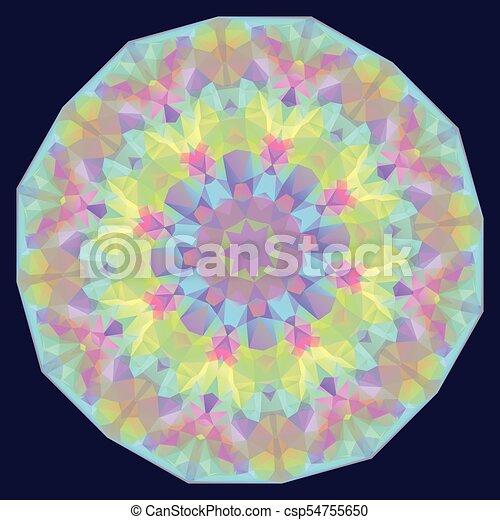 Round Iridescent Geometric Background - csp54755650