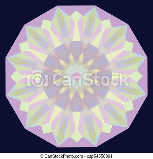 Round Iridescent Geometric Background - csp54556891