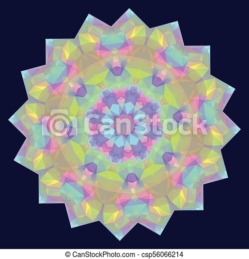 Round Iridescent Geometric Background - csp56066214