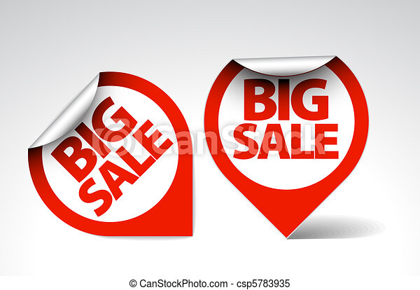 Round Labels / stickers for big sale - csp5783935