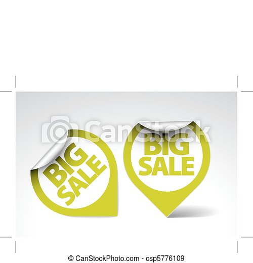 Round Labels / stickers for big sale - csp5776109