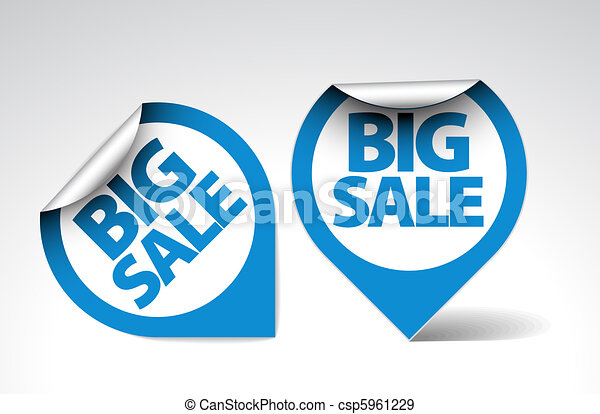 Round Labels / stickers for big sale - csp5961229