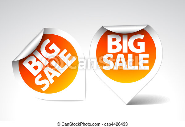 Round Labels / stickers for big sale - csp4426433