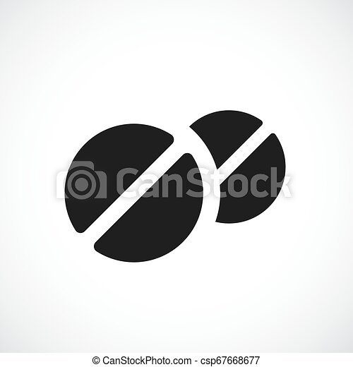 Round medical tablet icon - csp67668677