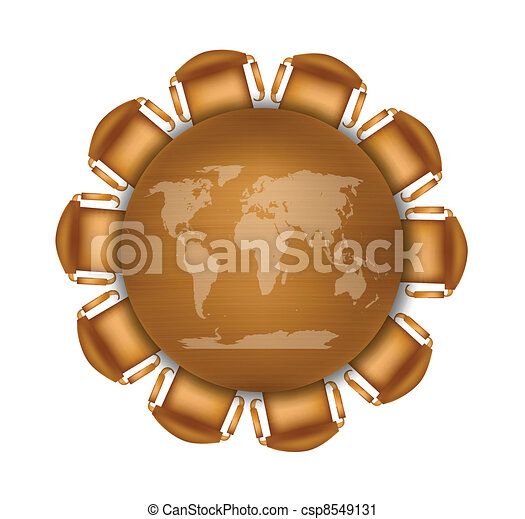 Round meeting table with world map round meeting table with world map csp8549131 gumiabroncs Images